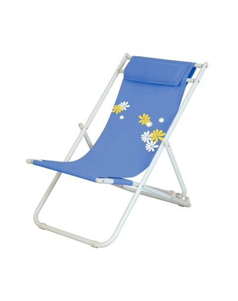 Плажен стол Flower - Светло син