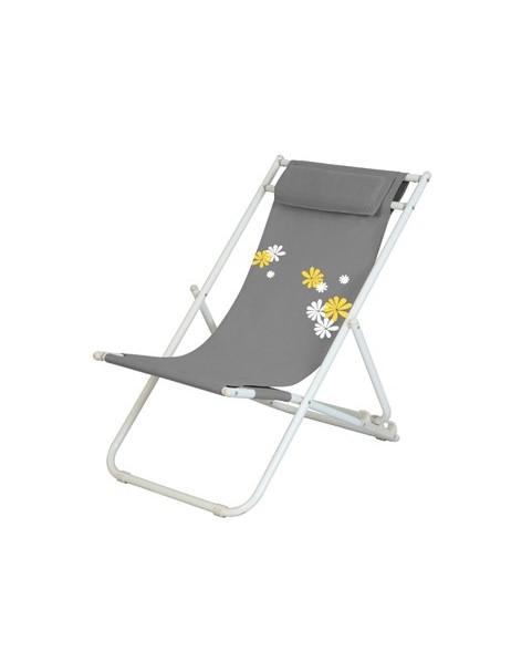 Плажен стол Flower - Сив