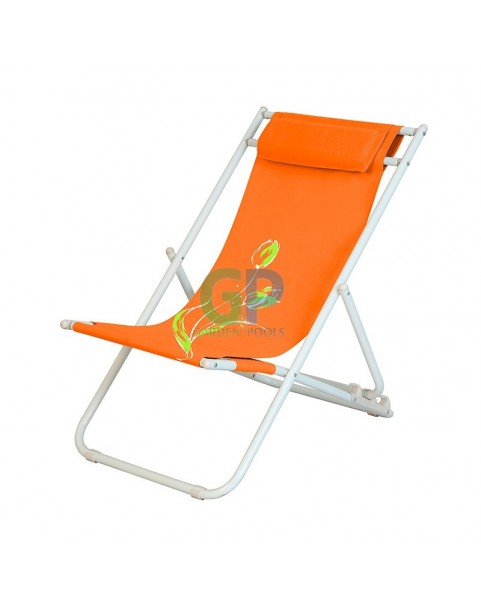 Плажен стол Flower - Оранжев