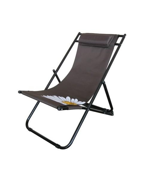 Плажен стол Flower - Кафяв