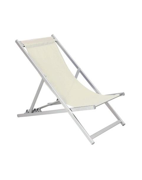 Плажен стол алуминиев - 5 позиции - Бежов