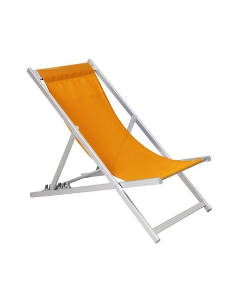 Плажен стол алуминиев - 5 позиции - Оранжев