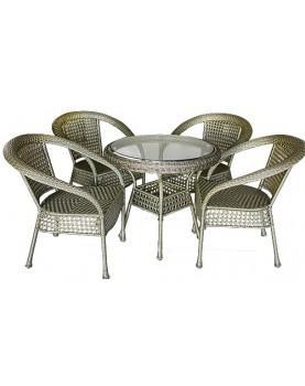 Ратанов комплект маса и столове - Samoa