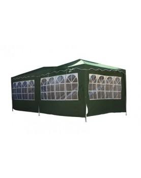 Градинска шатра 3х6м - найлон - Зелена, Синя