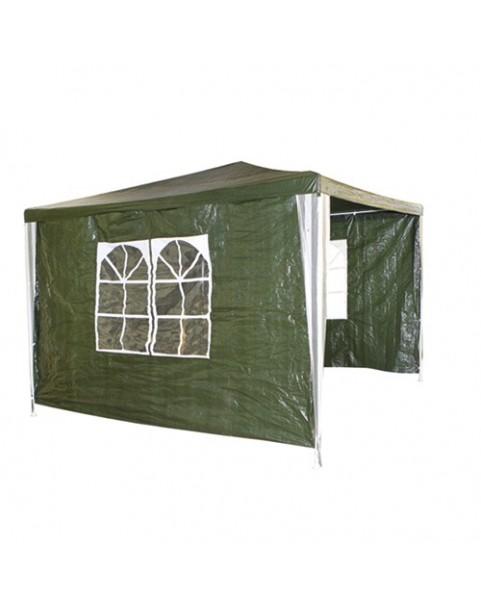 Градинска шатра 3 страни - найлон - Зелена, Синя