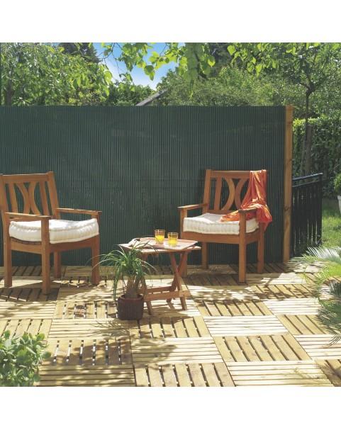 Nortene - Двулицева пластмасова ограда Plasticane - 2 х 3 метра - бамбук