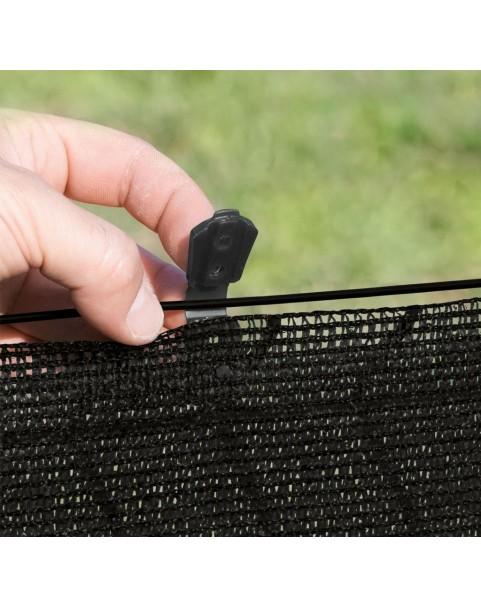 Nortene - Фиксиращи скоби за плетени мрежи Fixatex - черен