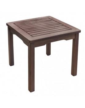 Дървена масичка за шезлонг - 45 x 45 x 40см
