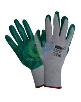 Ръкавици топени в нитрил /зелени BUFFALO/