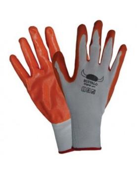 Ръкавици топени в нитрил /оранжеви BUFFALO/