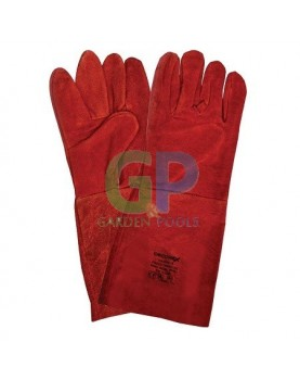 Ръкавици телешка кожа - 40см за заварчици /DECOREX/