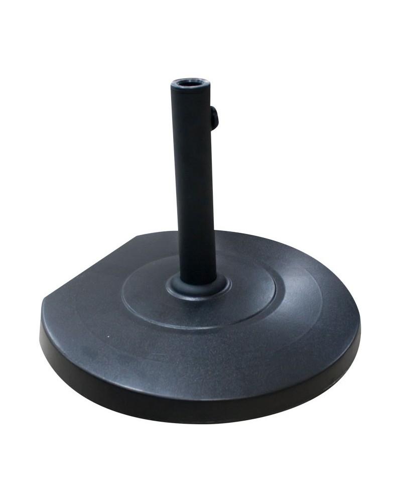 Стойка за чадър с колелца кръг черна - QTH25-B