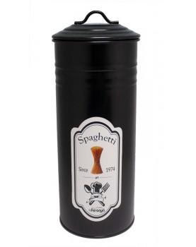 Feronya - Метална кутия с капак за съхранение на паста - черна