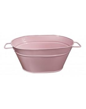 Feronya - Метално овално сандъче розово малко 8624-1
