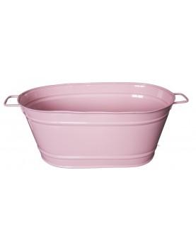 Feronya - Метално овално сандъче розово голямо 8624-2