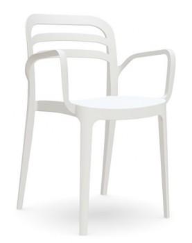 "Novussi - Стол с подлакътник ""ASPENDOS"" бял"