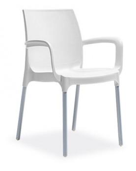"Novussi - Стол с подлакътник ""SUNSET"" бял (C009)"