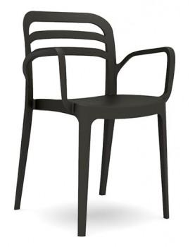 "Novussi - Стол с подлакътник ""ASPENDOS"" черен"