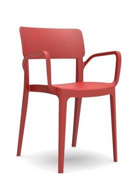 """Novussi - Стол с подлакътник """"PANORA"""" червен (D008)"""