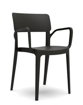 "Novussi - Стол с подлакътник ""PANORA"" черен (D008)"