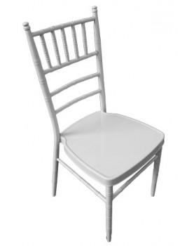 Кетъринг стол метален бял (А 03W) 39x41x92см
