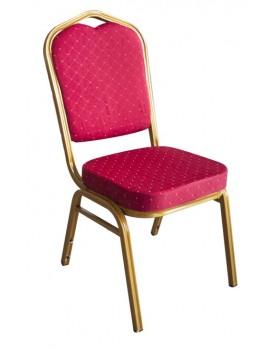 Кетъринг стол метален с червена седалка 45x51xh92cm (BC-065)