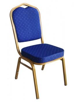 Кетъринг стол метален със синя седалка 45x51xh92cm (A 04B)