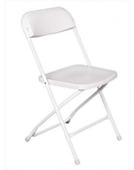 Кетъринг стол сгъваем класик бял (KP-C1028W)