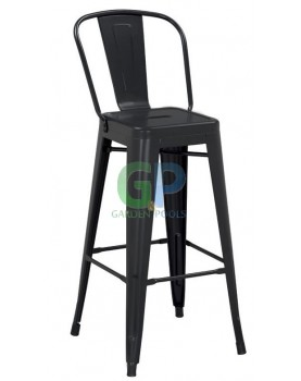 Antique - Бар стол 46x43x107cm - метал черен мат (630G)