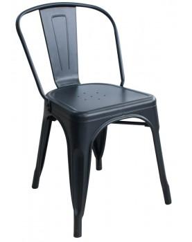 Antique - Метален стол 51x44x84cm черен мат (818G-KD)