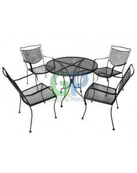 Комплект от маса и четири стола ковано желязо ROMANCE (FA17AB/FA27)