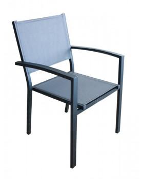 Стол с подлакътник GLORY - сив (G1060-CP/DG)