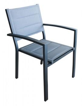 Стол с подлакътник GLORY COMFORT - сив (G1067-LG)
