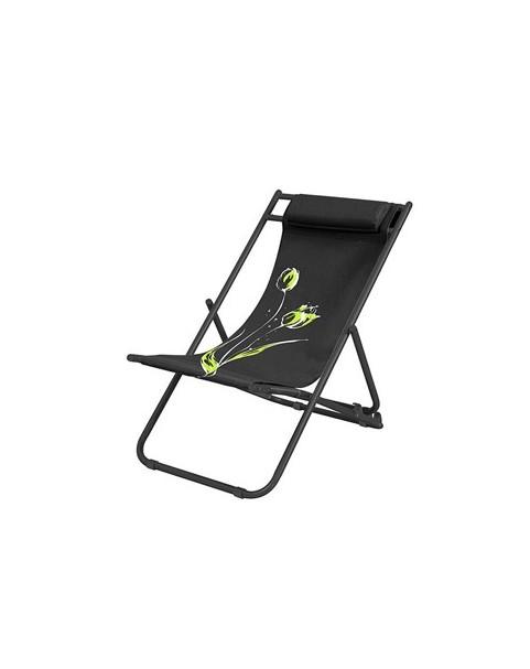Плажен стол Flower - Черен