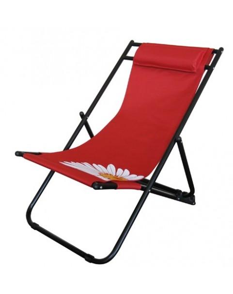 Плажен стол Flower - Червен
