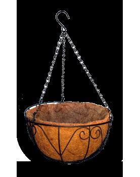 Кокосова саксия кошница...
