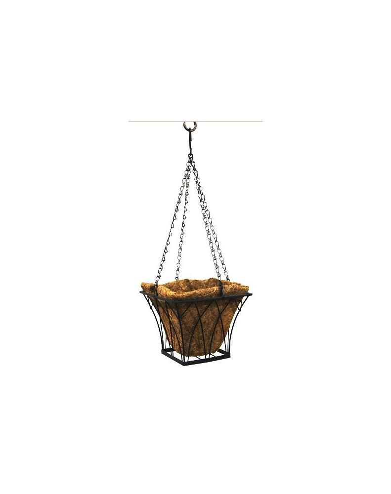 Кокосова саксия висяща - Квадрат 20 х 20 х 15см