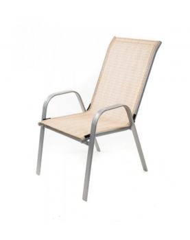 Градински стол с метална...