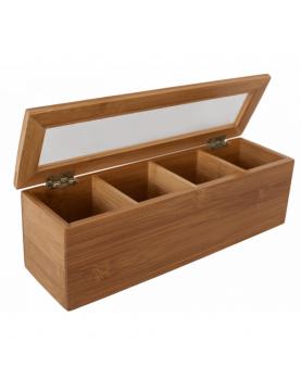 Бамбукова кутия за чай с 4...