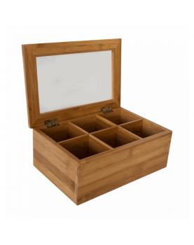 Бамбукова кутия за чай с 6...