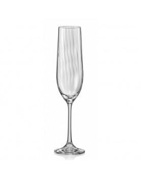Стъклена чаша за пенливи...