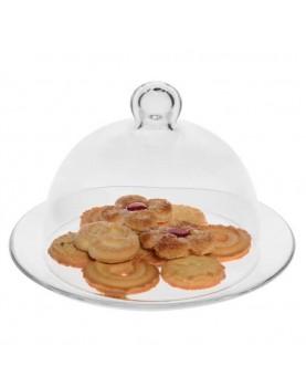 Стъклена чиния с капак...