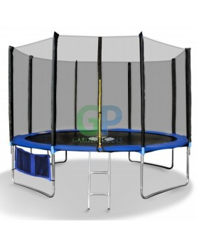 Fitkraft - Детски батут с мрежа и стълба 312 см