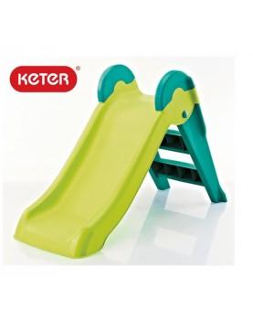 Keter - Детска пързалка Boogie Slide зелено/синьо