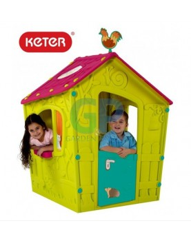 Keter - Пластмасова къща за игра Magic Playhouse зелено/синьо/розово