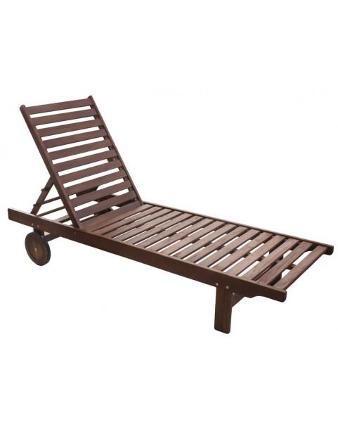 Дървен шезлонг Класик - 193 x 60 x 30 см
