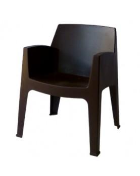 Пластмасово кресло Стон - черно