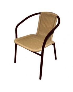 Стол метален с ратанова оплетка 39х48х74