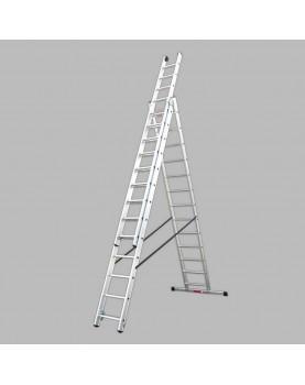 Трираменна алуминиева стълба Alpos Expert 38-15