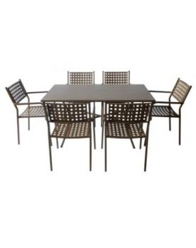 Градински метален комплект АМ-С159-141-2 Кафяв цвят
